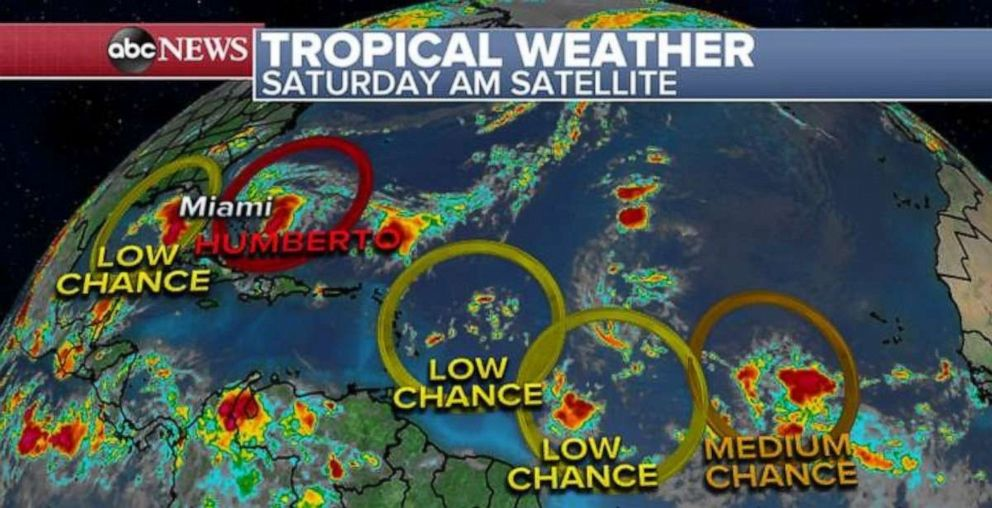 PHOTO: Satellite map shows tropical weather.