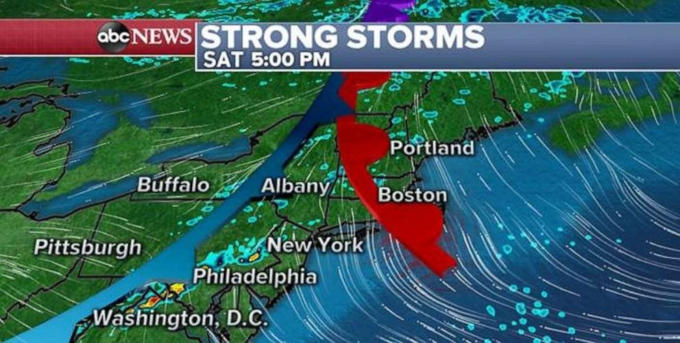 PHOTO: Strong storms could hit the Northeast.