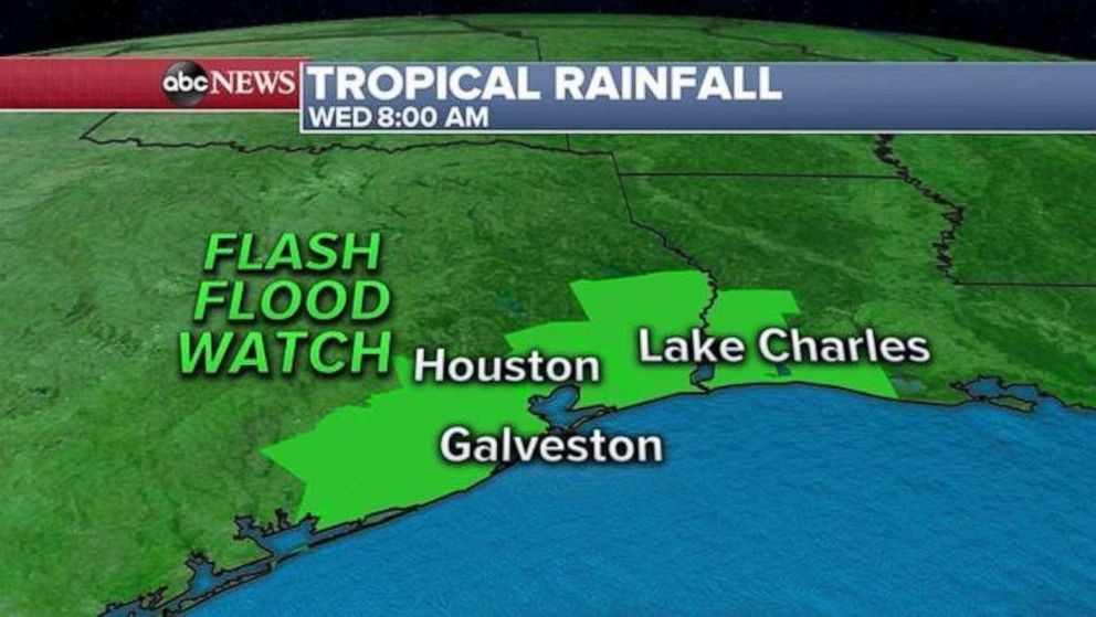 PHOTO: A flash flood watch is issued for the Houston area.
