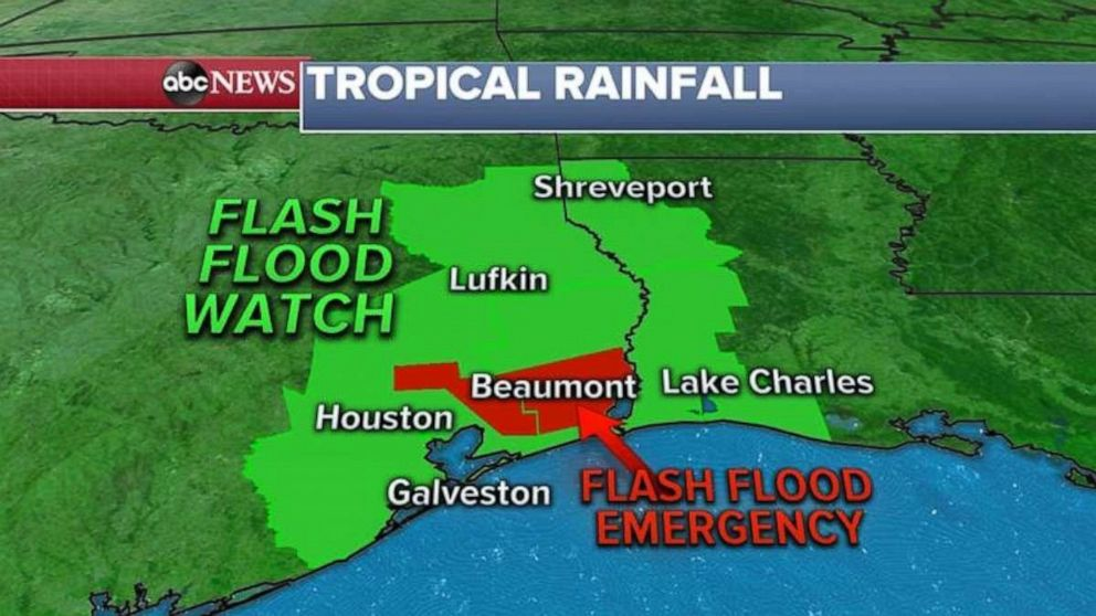 PHOTO: A flash flood watch is in effect in parts of Texas.