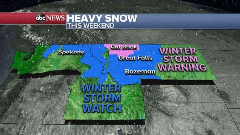 PHOTO: Heavy snow this weekend