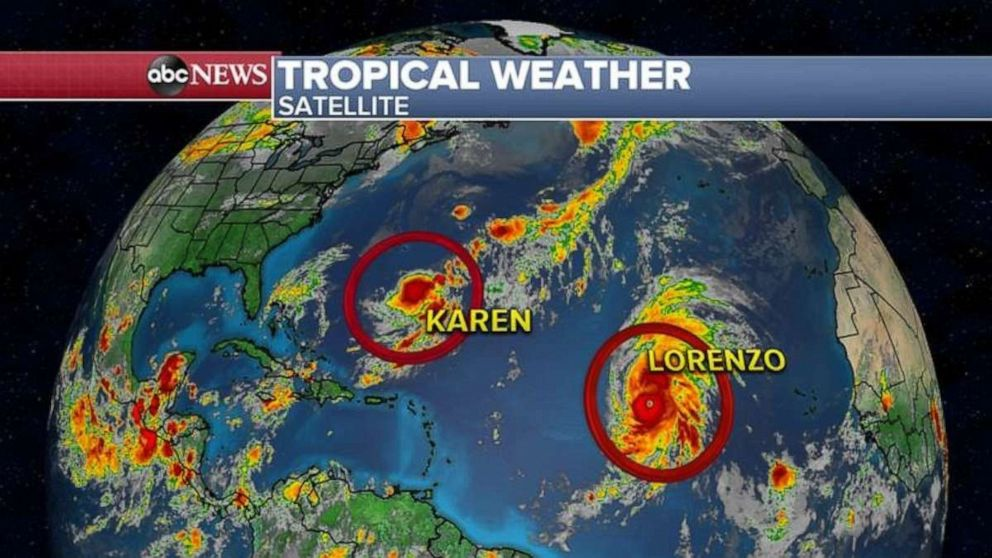 PHOTO: Tropical weather map