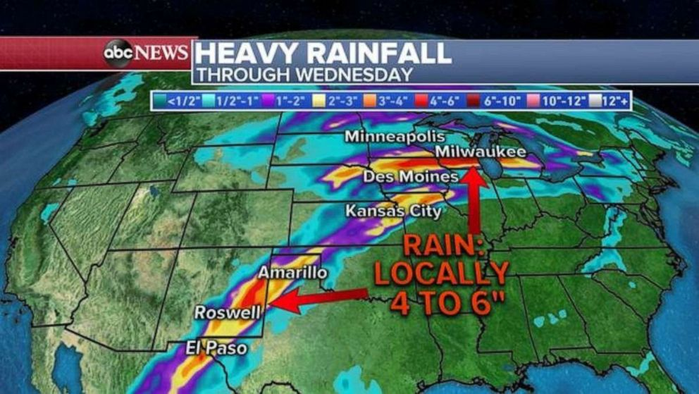 PHOTO: Heavy rainfall through Wednesday