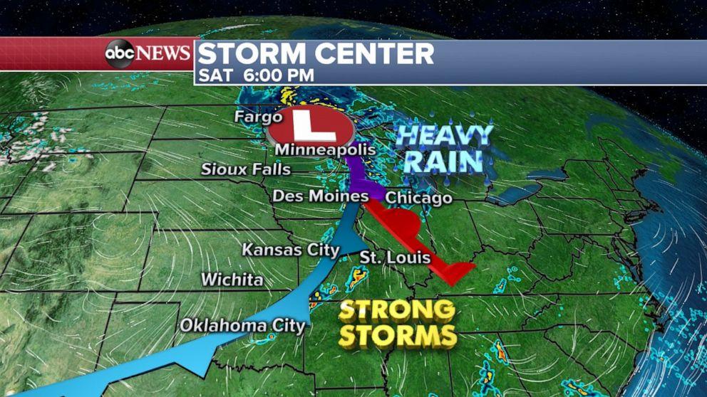 PHOTO: Storm center Sat. 6 p.m.