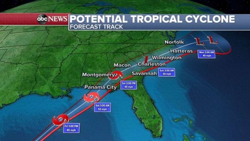PHOTO: Potential tropical cyclone