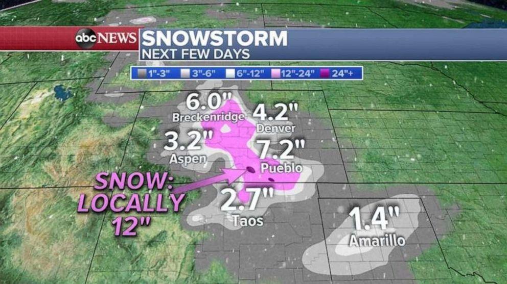 PHOTO: Snowstorm forecast