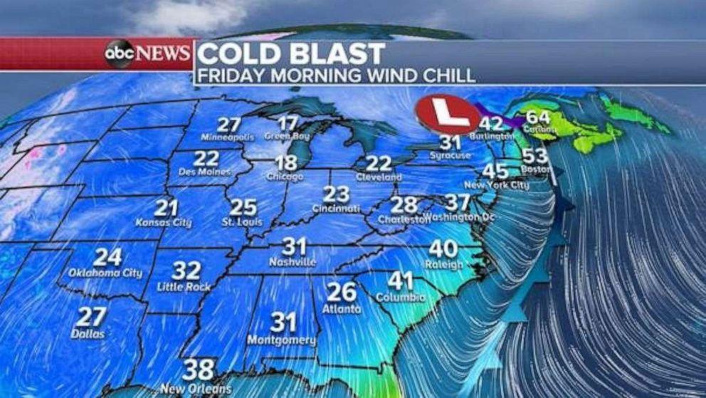 PHOTO: Cold blast