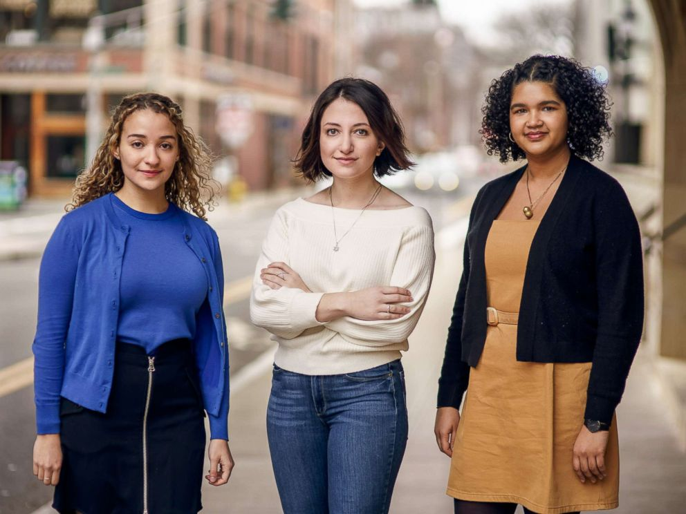 PHOTO: Anna McNeil, Ellie Singer, and Ry Walker are the named plaintiffs in a new lawsuit against Yale University and the schools fraternities over frat culture on campus.