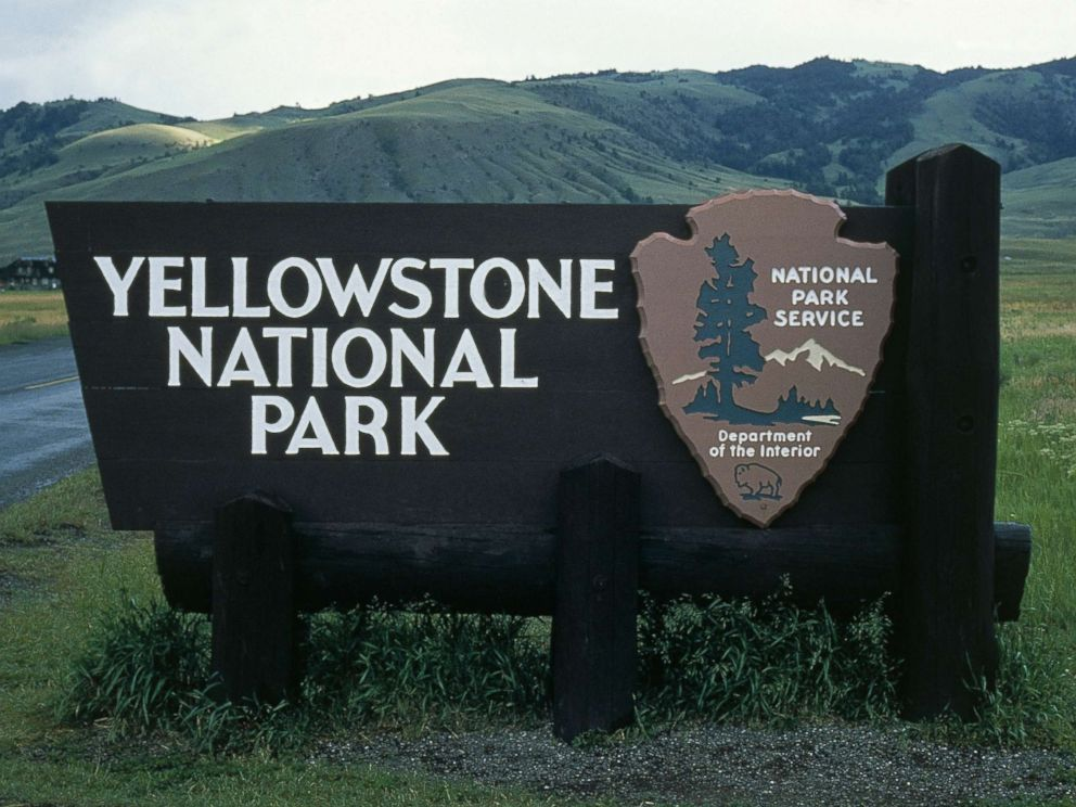 PHOTO: A sign for Yellowstone National Park in Wyoming is pictured in this file photo.
