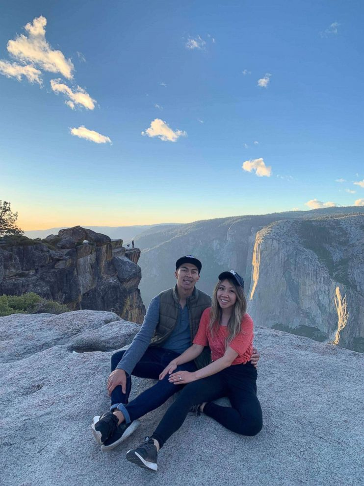 The happy couple were engaged on Oct. 6 at Taft Point in Yosemite National Park. October 28, 2018.