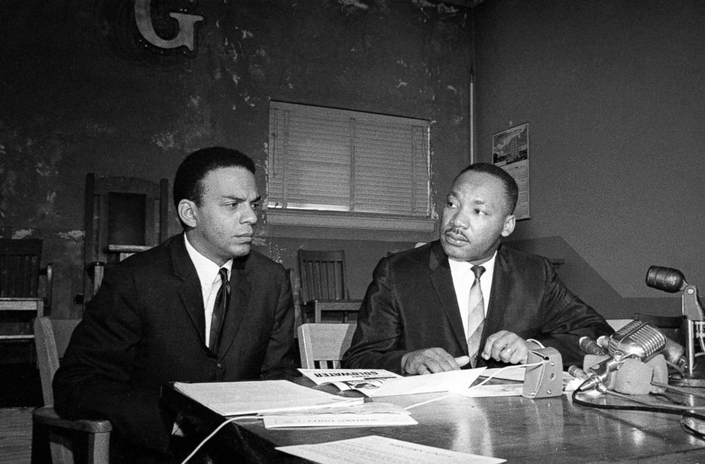 PHOTO: Andrew Young and Dr. Martin Luther King at Press Conference, Nov. 2, 1964.