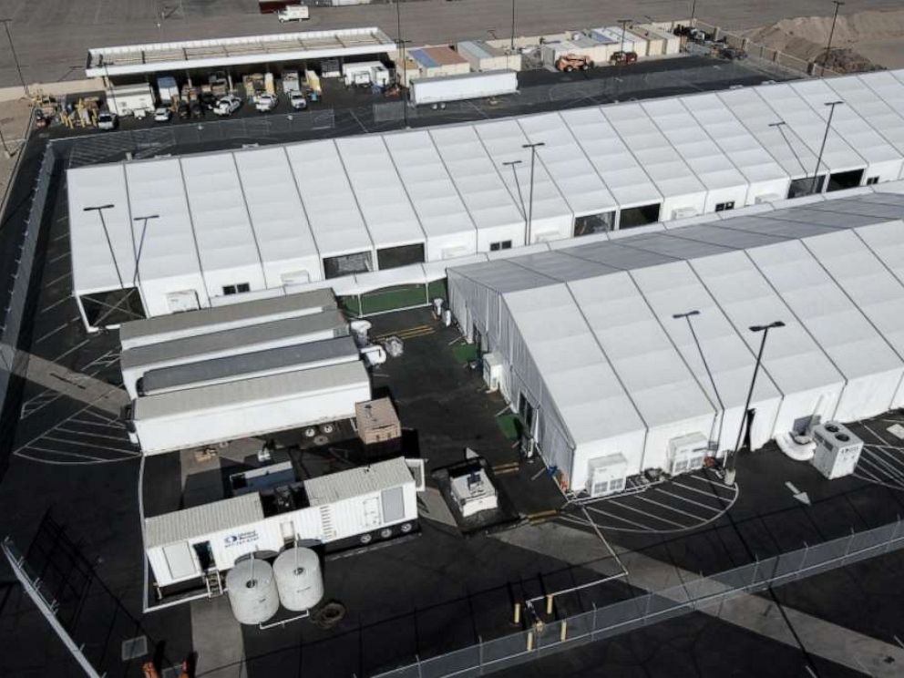 PHOTO: ABC News was allowed to tour a migrant holding center in Yuma, Arizona, that was completed in June. It was built, with a $15 million price tag, to house the spike in families coming across the border.