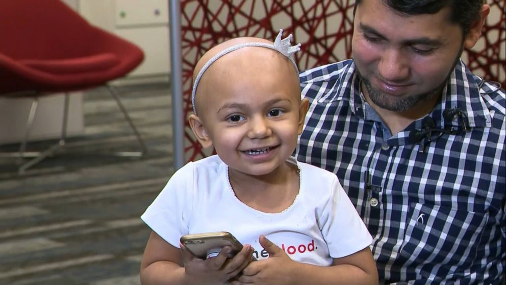 Zainab Mughal, 2, is in good spirits despite already receiving four rounds of chemotherapy to treat her high-risk neuroblastoma, her parents said.
