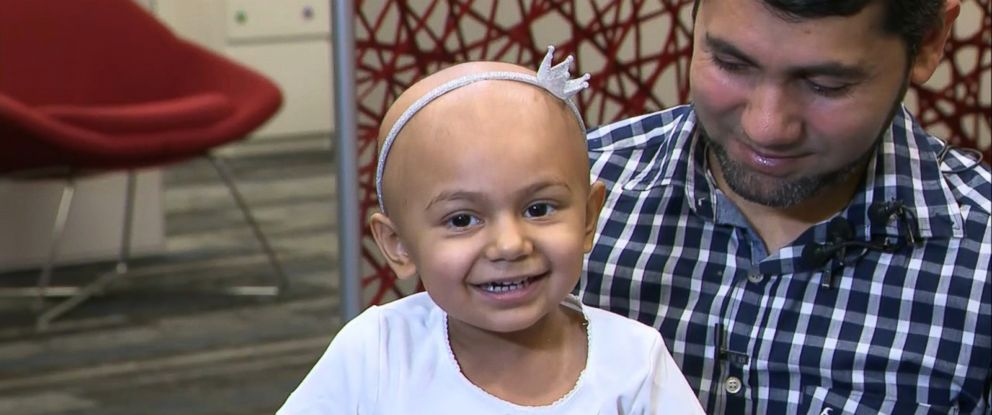PHOTO: Zainab Mughal, 2, is in good spirits despite already receiving four rounds of chemotherapy to treat her high-risk neuroblastoma, her parents said.