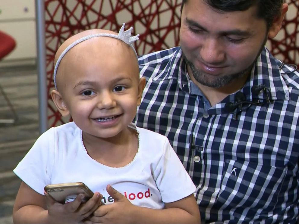 WPLGZainab Mughal 2 is in good spirits despite already receiving four rounds of chemotherapy to treat her high-risk neuroblastoma her parents said