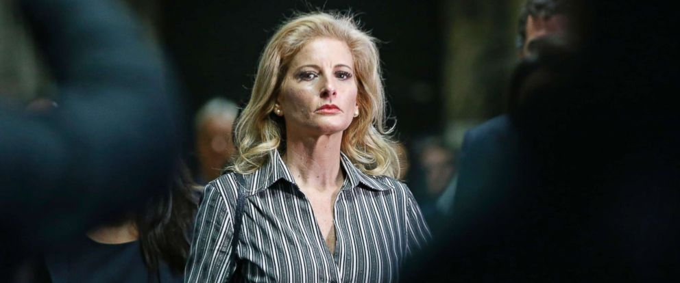 PHOTO: Summer Zervos, who is suing President Donald Trump in a defamation lawsuit, leaves Manhattan Supreme Court after a hearing in New York, on Dec. 5, 2017.