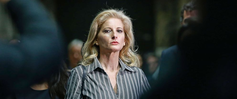 PHOTO: Summer Zervos, who is suing President Donald Trump in a defamation lawsuit, leaves Manhattan Supreme Court after a hearing in New York, Dec. 5, 2017.
