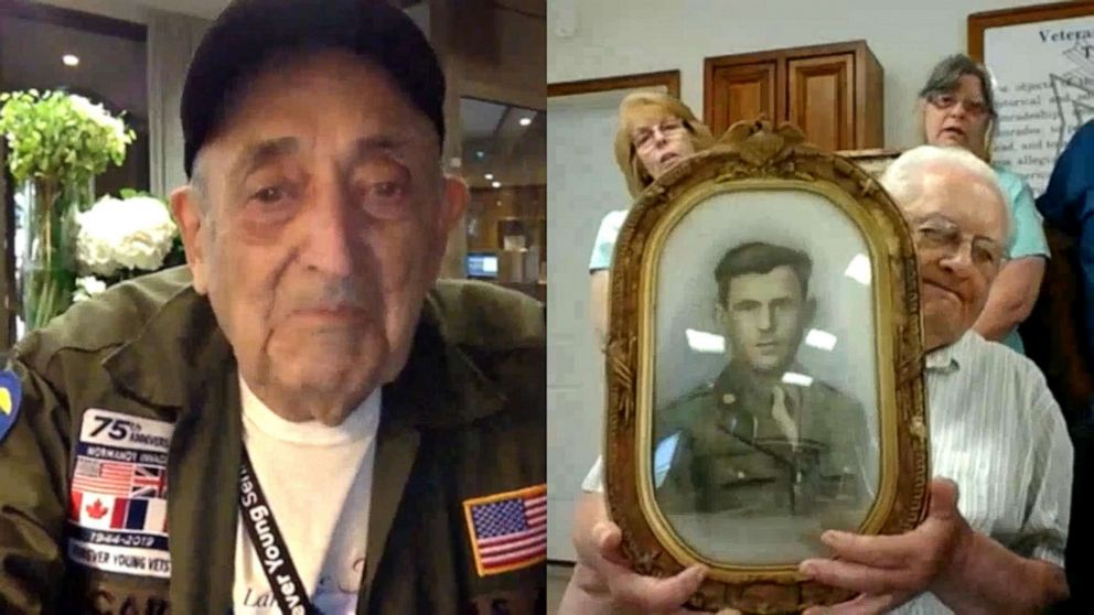 PHOTO: World War II veteran Onofrio Zicari , 96, connected with the family of friend Donald E. Simmons, who died on D-Day, after a relative saw his story on World News Tonight With David Muir last week.