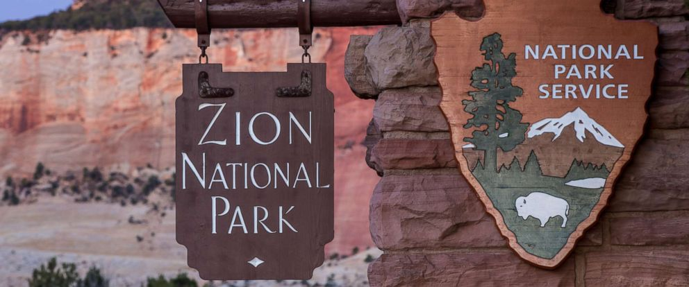 PHOTO: The east entrance to Zion National Park is viewed along the Mount Carmel Highway, Nov. 6, 2018 in Zion National Park, Utah.