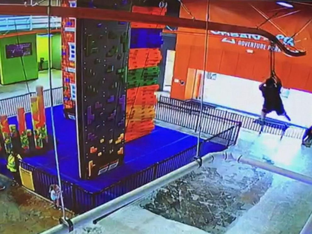 PHOTO: A boy is seen on video falling from a zipline at a facility in Lakeland, Florida.