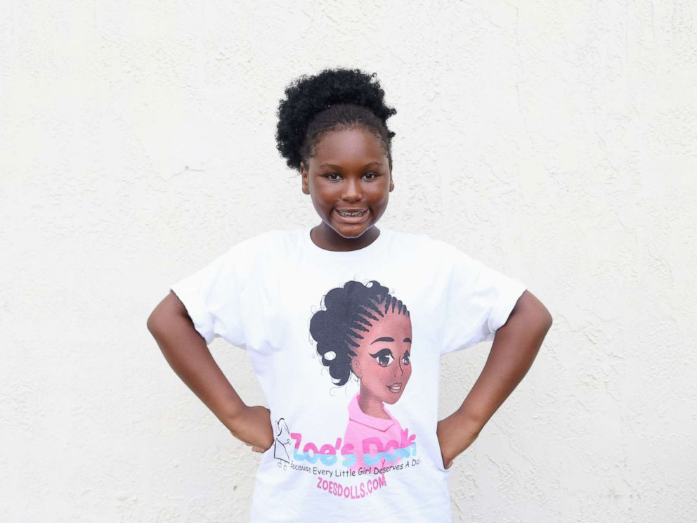 PHOTO: Zoe Terry, 11, launched the nonprofit Zoes Dolls in 2011 which gives out dolls of color to young girls whose families may not otherwise be able to afford them.