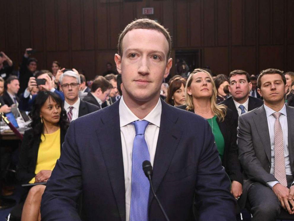 PHOTO: Facebook CEO Mark Zuckerberg arrives to testify before a joint hearing of the Senate Commerce, Science and Transportation Committee and Senate Judiciary Committee on Capitol Hill, April 10, 2018.