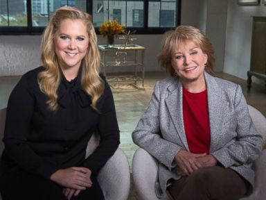 PHOTO: Barbara Walters interviews comedian, writer, actress, and producer Amy Schumer, for her Most Fascinating People special airing on the ABC Television Network.