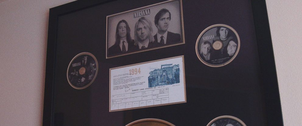"PHOTO: The plaque for Nirvanas ""You Know Youre Right,"" is seen hanging in Robert Lang Studios in Shoreline, Wash."