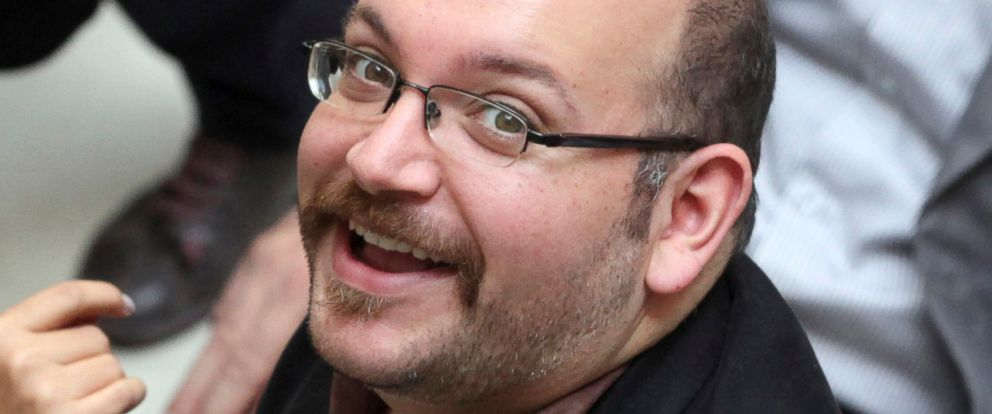PHOTO:In this photo April 11, 2013 file photo, Jason Rezaian, an Iranian-American correspondent for the Washington Post, attends a presidential campaign of President Hassan Rouhani in Tehran, Iran.