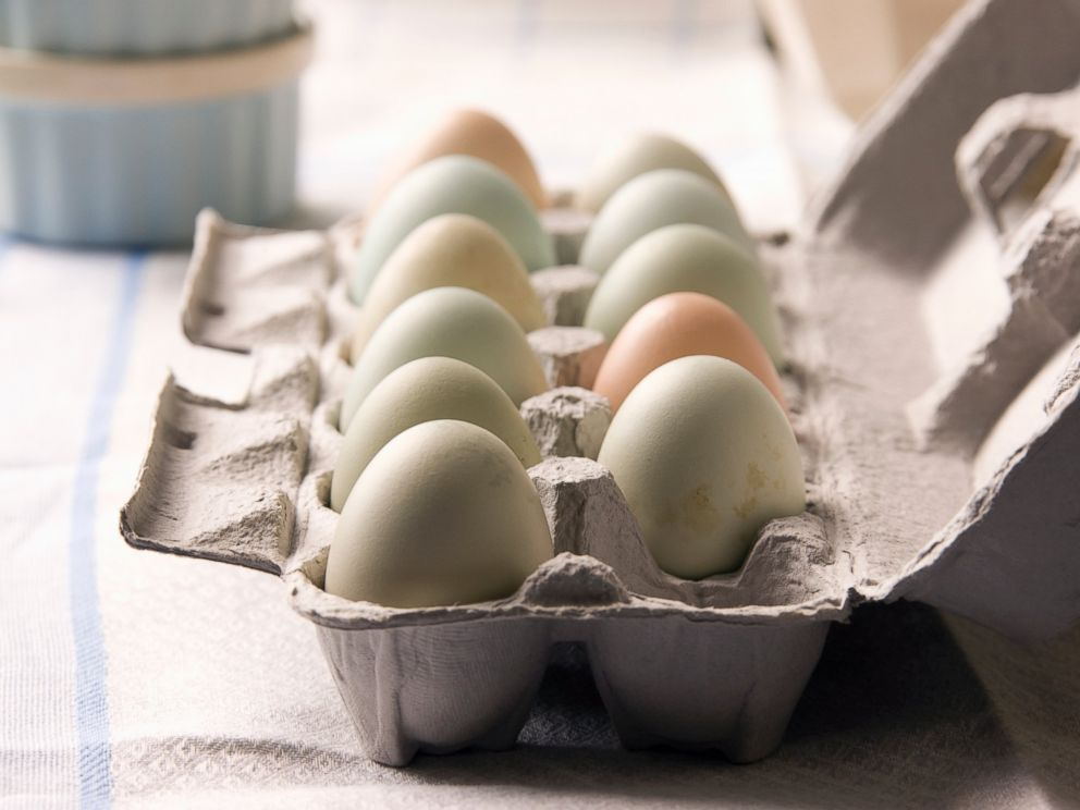 PHOTO: Eggs in a carton on a table in this undated photo.