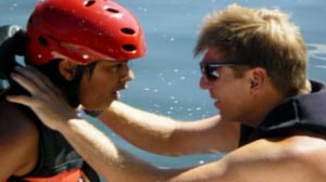 Extreme Sports Camp features activities such as waterskiing and rock climbing for autistic children.