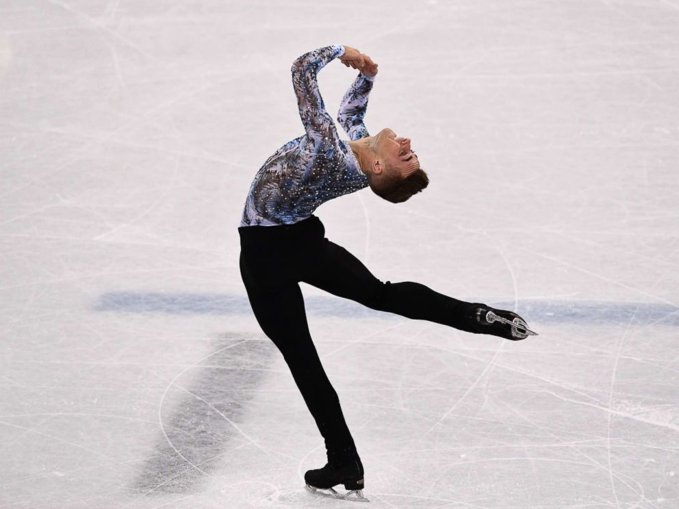 PHOTO: Adam Rippon of the United States, competes in the figure skating team event mens single skating free skating during the 2018 Winter Olympic Games, Feb. 12, 2018.
