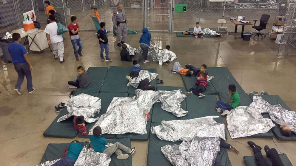 Customs and Border Protection released new pictures from inside the centralized processing center in McAllen, Texas, June 17, 2018.