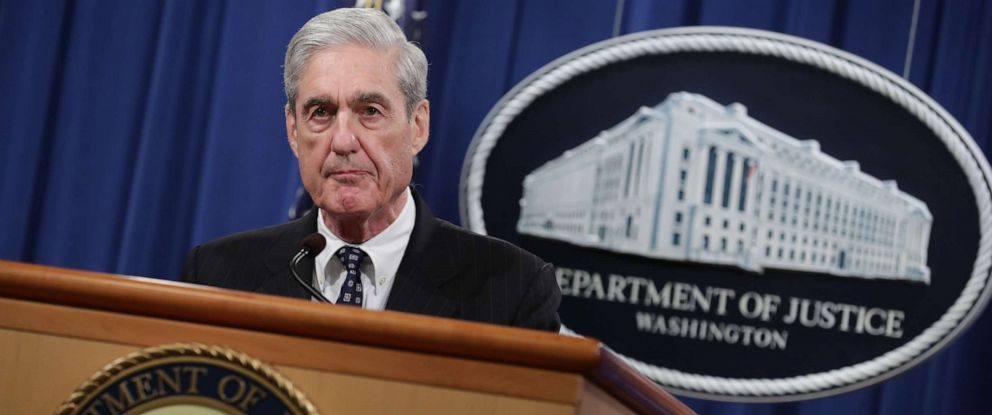 PHOTO: Special Counsel Robert Mueller makes a statement about the Russia investigation, May 29, 2019 at the Justice Department in Washington, D.C.