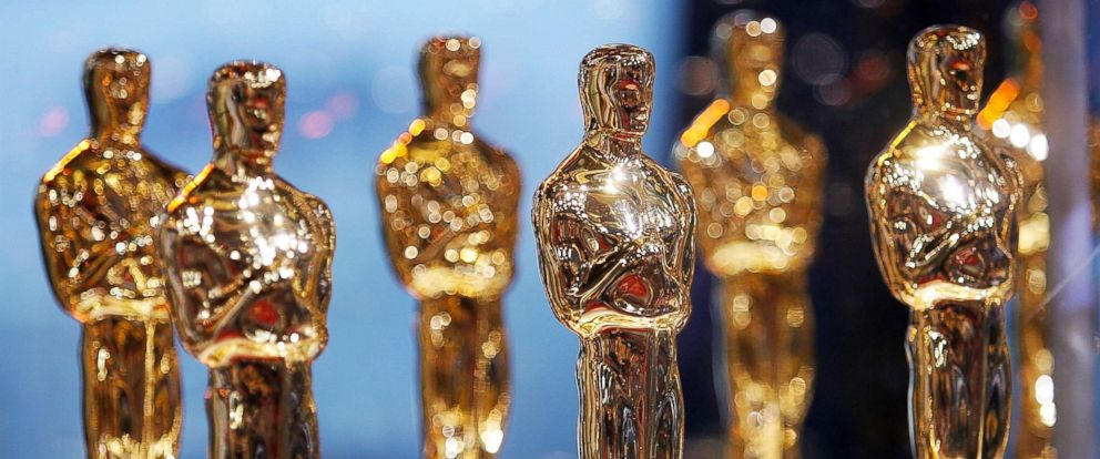 "PHOTO: Oscar statues are displayed at the 2007 ""Meet the Oscars"" presented by the Academy of Motion Pictures Arts and Sciences on Feb. 12, 2007, in New York City."