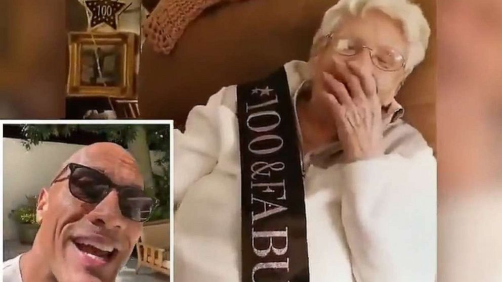 Dwayne Johnson Sends Birthday Wish To 100 Year Old Fan