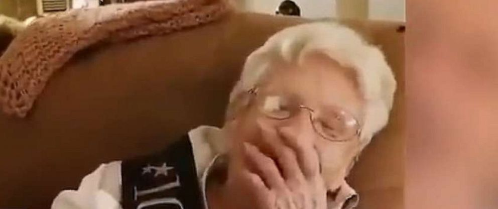 """PHOTO: Dwayne """"The Rock"""" Johnson sent a sweet birthday wish to 100-year-old fan, Marie Grover."""