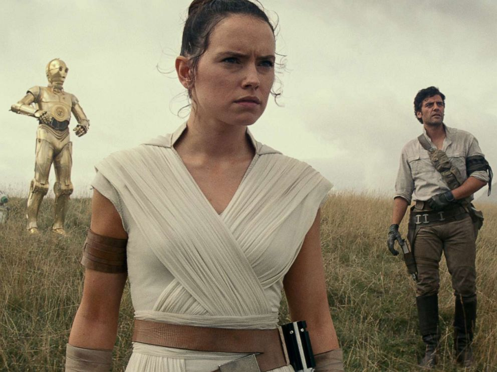 PHOTO: Joonas Suotamo, Daisy Ridley, Oscar Isaac and John Boyega appear in a scene from Star Wars: Episode IX.