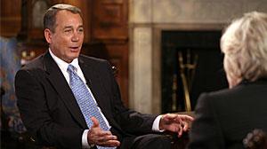 Photo: Diane Sawyer interviews John Boehner