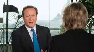 Diane Sawyer interviews David Cameron.