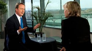 Diane Sawyer interviews David Cameron