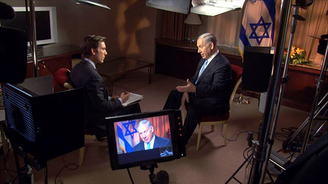 PHOTO: ABC News David Muir interviews Israeli Prime Minister Benjamin Netanyahu after he appears before the U.N. General Assembly.