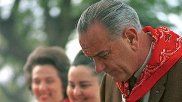 PHOTO:President Lyndon B Johnson attends a barbecue in this undated file photo.