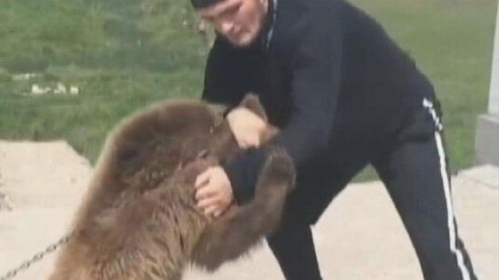 Video : დაღესტნელი მებრძოლი, ხაბიბ ნურმაგომედოვი დათვს წაეჩხუბა