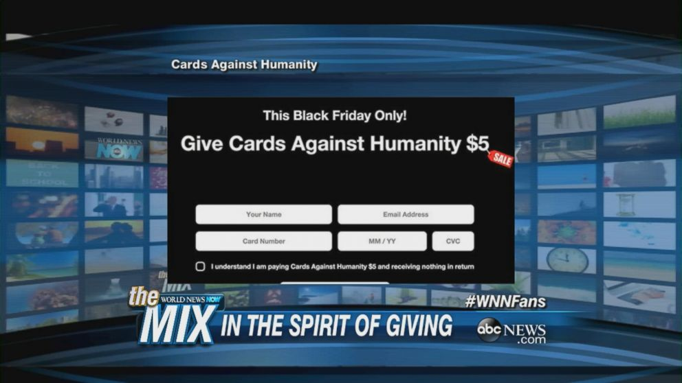 Cards Against Humanity Has A Profitable Black Friday Video Abc News