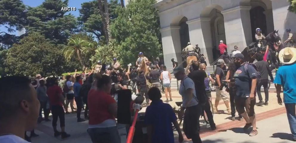 VIDEO: Multiple People Stabbed at White Supremacist Group Protest