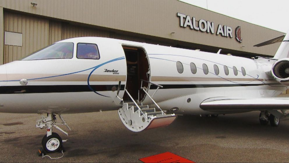 Exclusive Look Inside Talon Air S Private Jet Video Abc News
