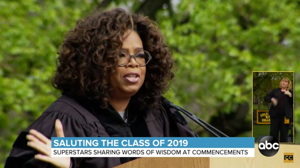 Celebrities deliver commencement speeches