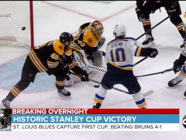 WATCH St Louis beats Boston to win 2019 Stanley Cup