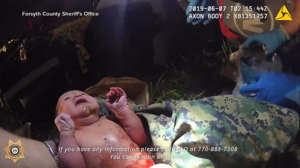 Newborn baby found in plastic bag in the woods